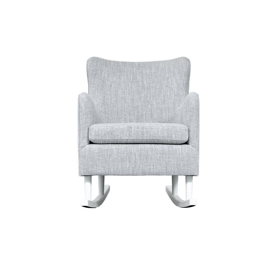 Rocking Chair Linnen - Grijs-3