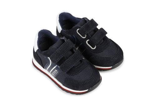 Hugo Boss suède sneakers - blauw