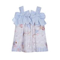 thumb-jurk met strikken - blauw-1