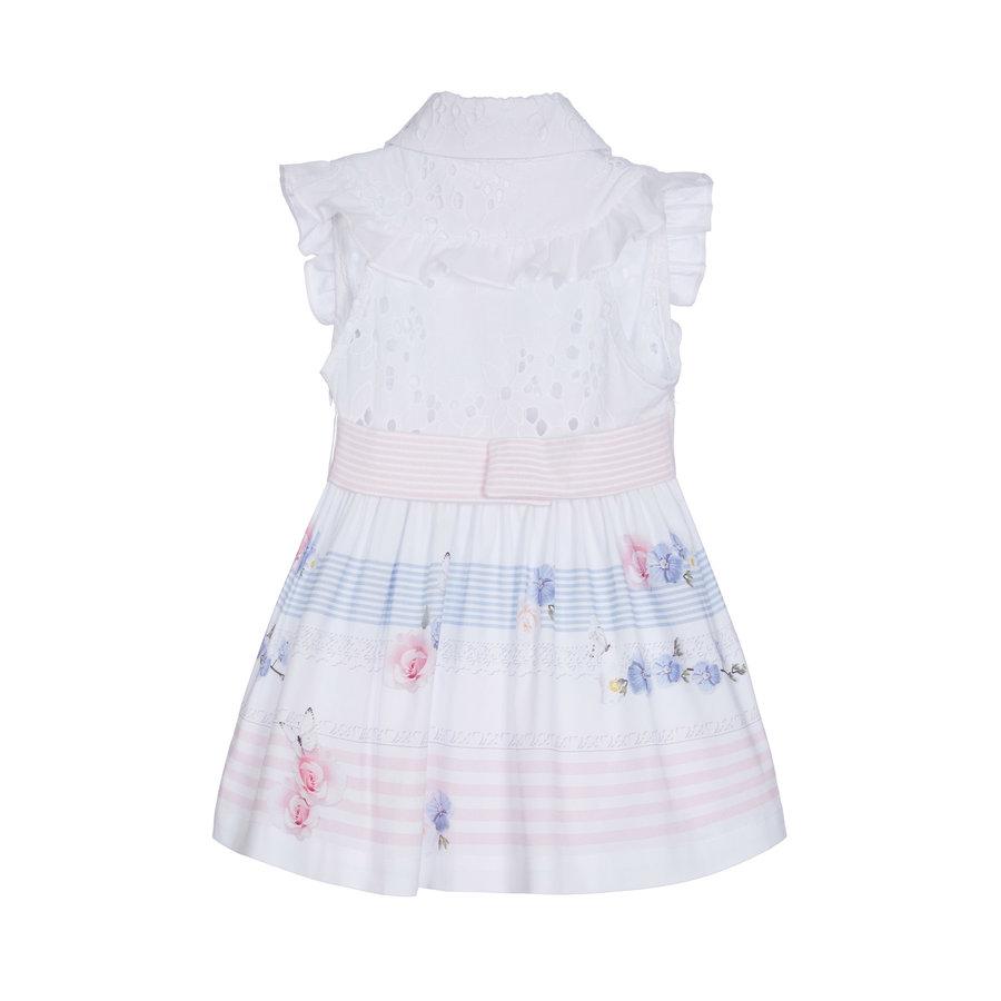 jurk met broderie blouse - wit-2