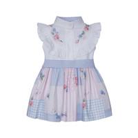 thumb-jurk met blouse en strik - multicolor-1