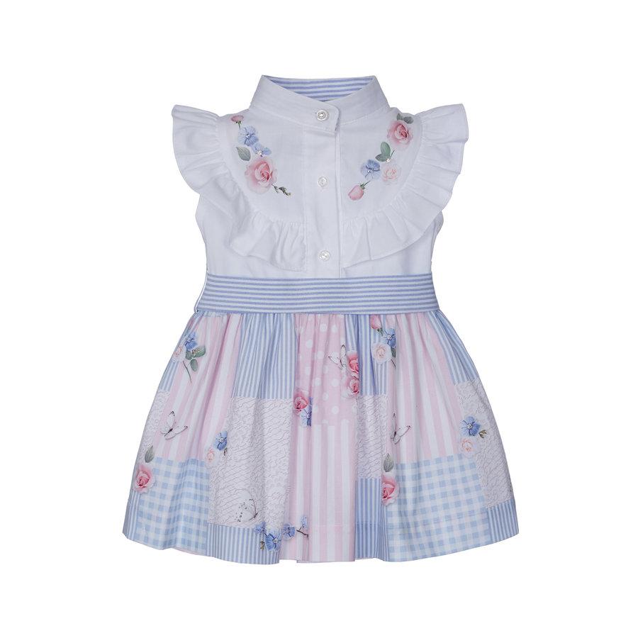 jurk met blouse en strik - multicolor-1