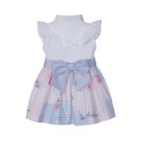 thumb-jurk met blouse en strik - multicolor-2