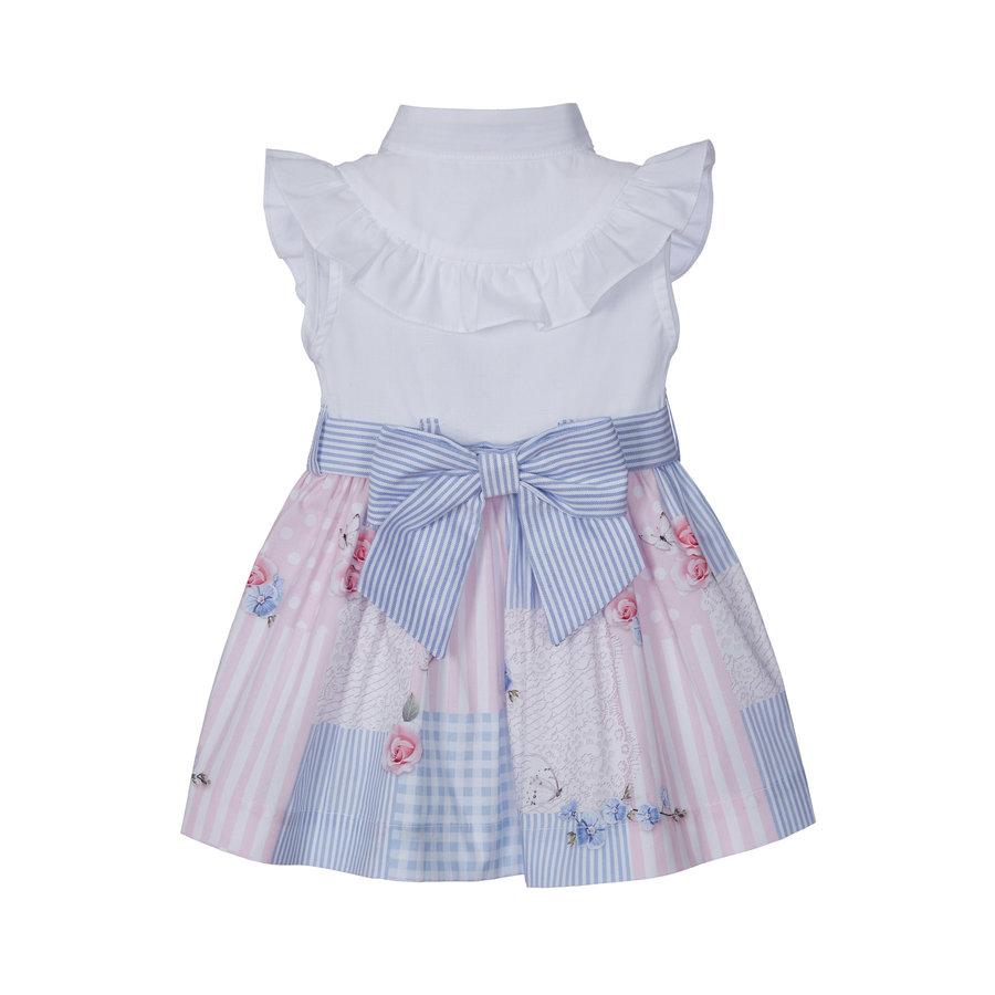 jurk met blouse en strik - multicolor-2