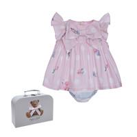 thumb-jurk met strik - roze-1