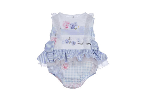 Lapin House babypakje met strikken - blauw