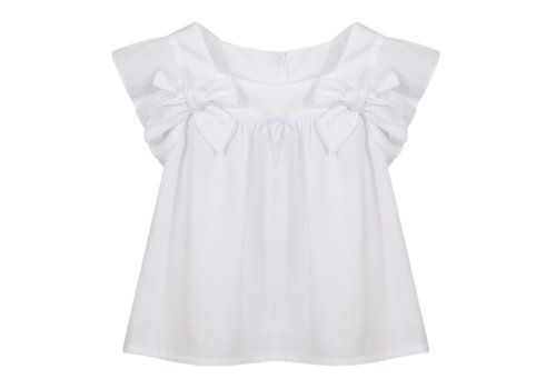 Patachou blouse met strikken - wit