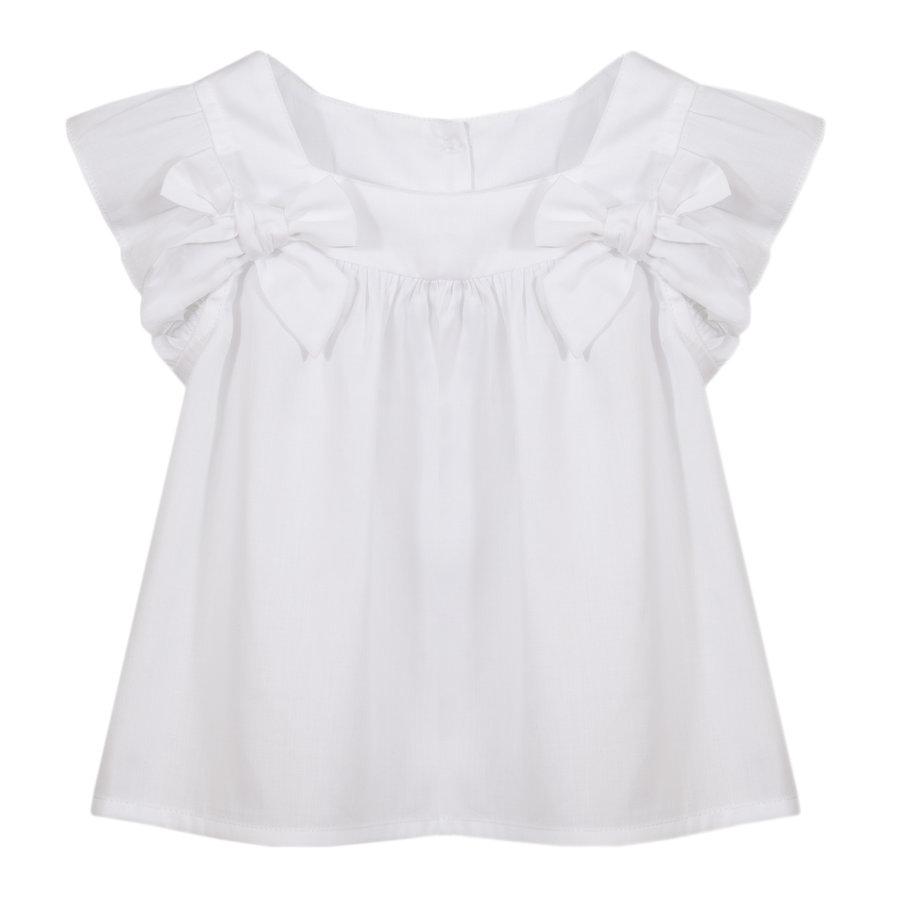 blouse met strikken - wit-1