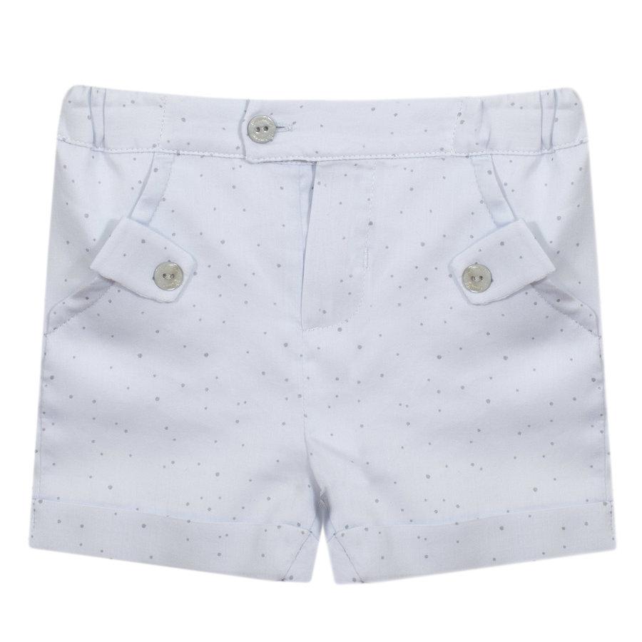 korte broek met sierknoopjes - blauw-1