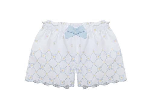 Patachou korte broek met bloemen - blauw