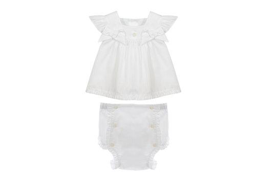 Patachou blouse met broekje - wit