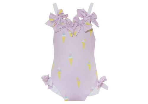 Patachou badpak ijsjes met strikken - roze