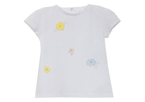 Patachou t-shirt met bloemen - wit
