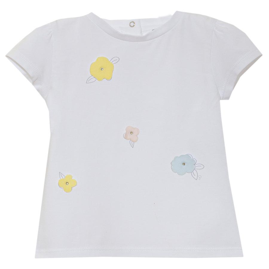 t-shirt met bloemen - wit-1