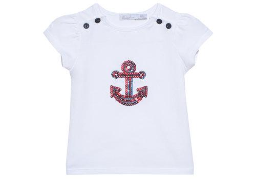Patachou t-shirt met anker - wit