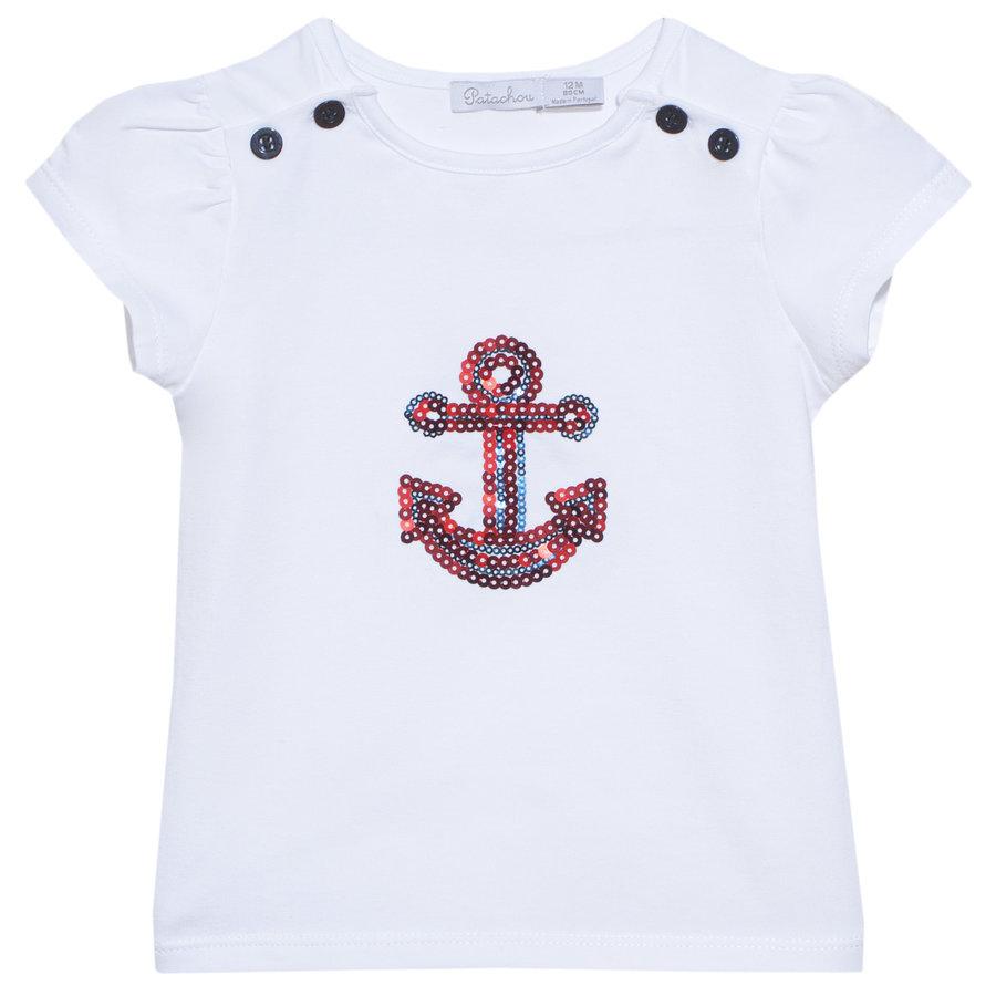 t-shirt met anker - wit-1