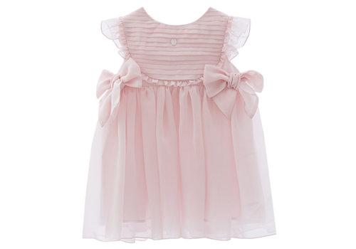 Patachou jurk voile met strikken - roze