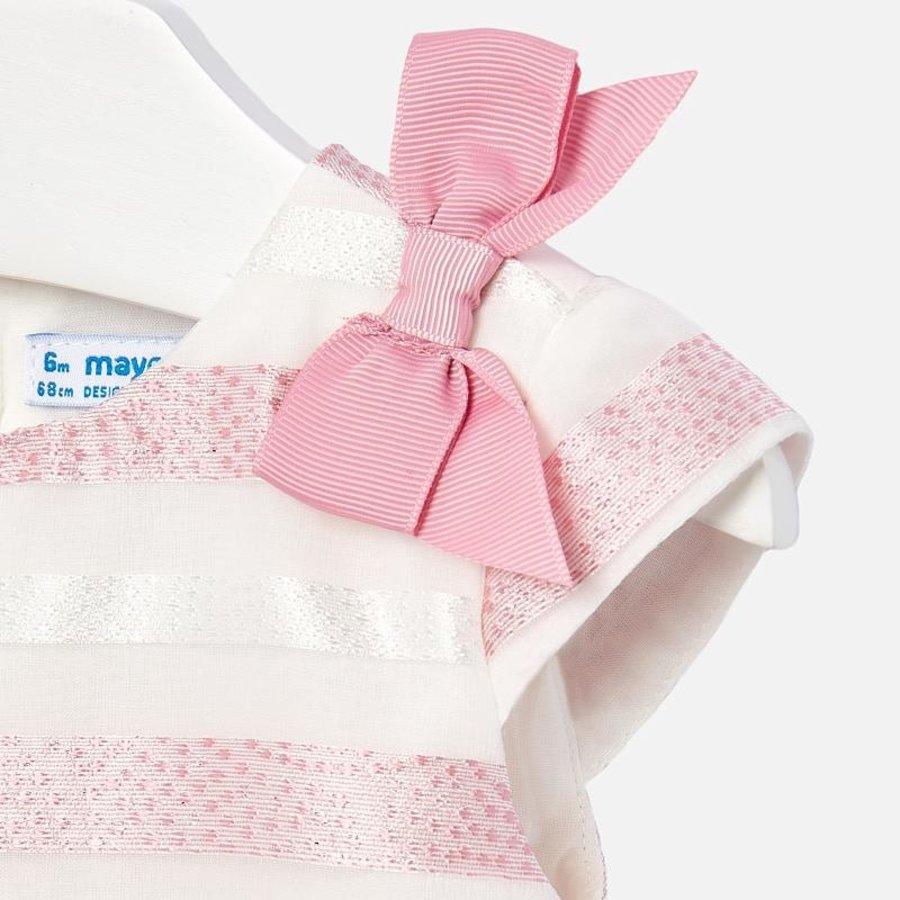 jurkje voile met strikken - roze-3