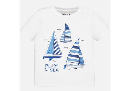 Mayoral t-shirt zeilboten - wit
