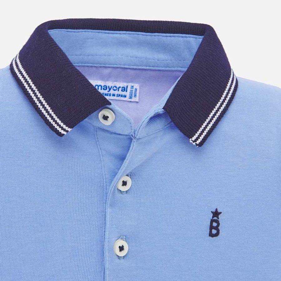 polo met zeilboten - blauw-2