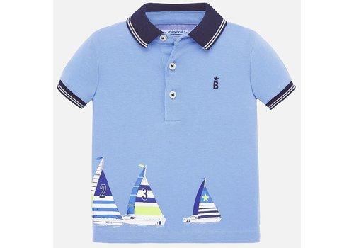 Mayoral polo met zeilboten - blauw