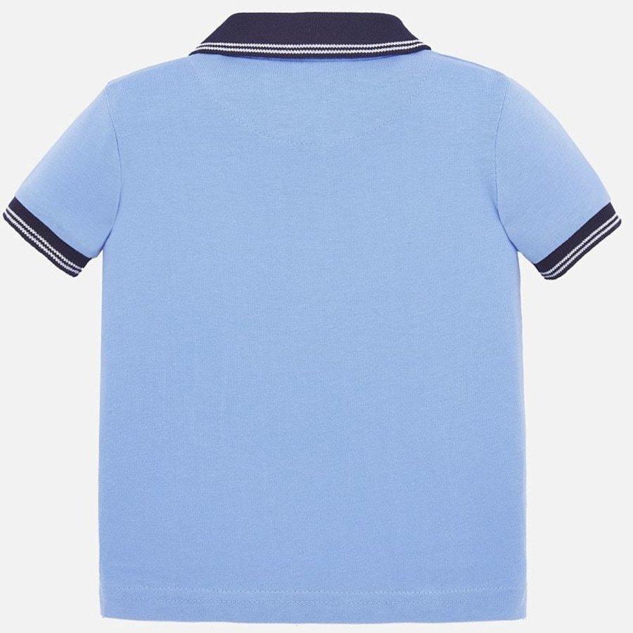 polo met zeilboten - blauw-3