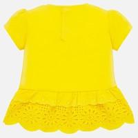 thumb-t-shirt met broderie - geel-2