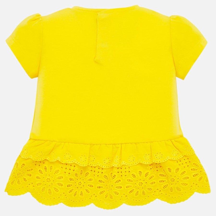 t-shirt met broderie - geel-2