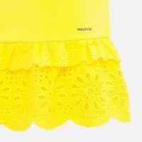thumb-t-shirt met broderie - geel-3