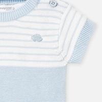 thumb-gebreide set van broekje en shirt - blauw-3