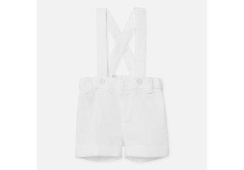 Mayoral broekje met bretels - wit