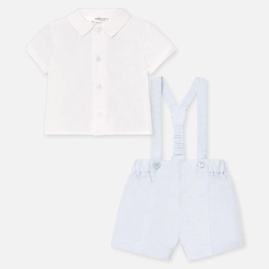 set van overhemd en broekje - blauw-2