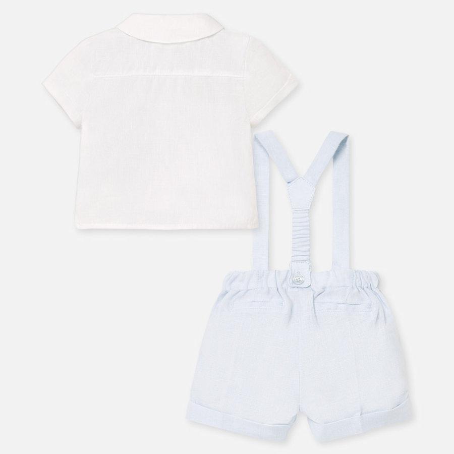 set van overhemd en broekje - blauw-3