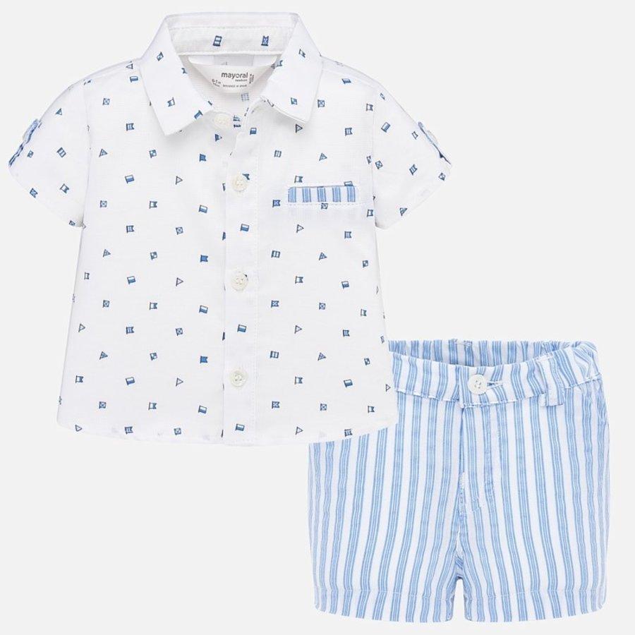 overhemd met broekje - blauw-1