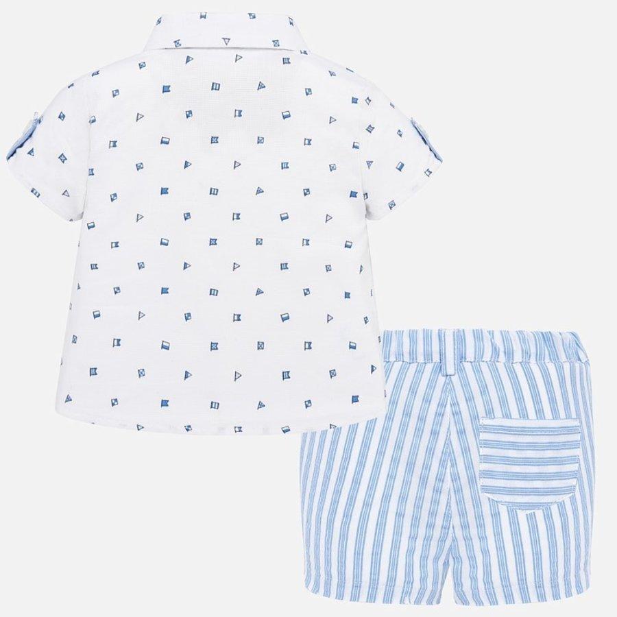 overhemd met broekje - blauw-3