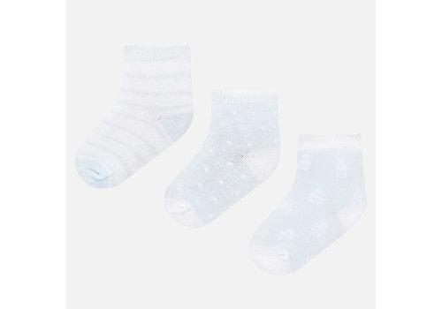 Mayoral set van 3 baby sokjes - blauw