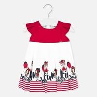 thumb-jurk met strepen - rood-1