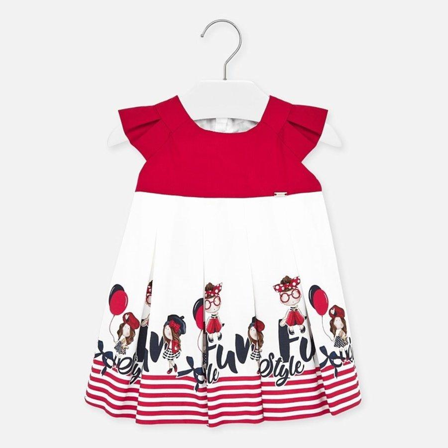 jurk met strepen - rood-1