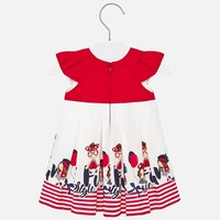thumb-jurk met strepen - rood-3