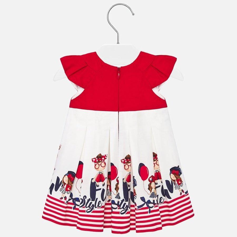 jurk met strepen - rood-3