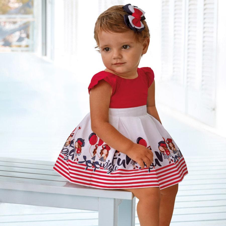 jurk met strepen - rood-2