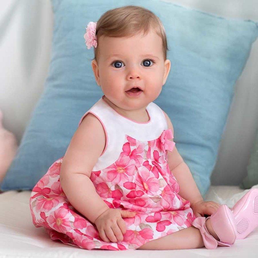 jurk met broekje bloemen - roze-2