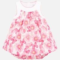 thumb-jurk met broekje bloemen - roze-1