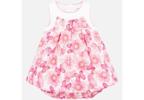 Mayoral jurk met broekje bloemen - roze