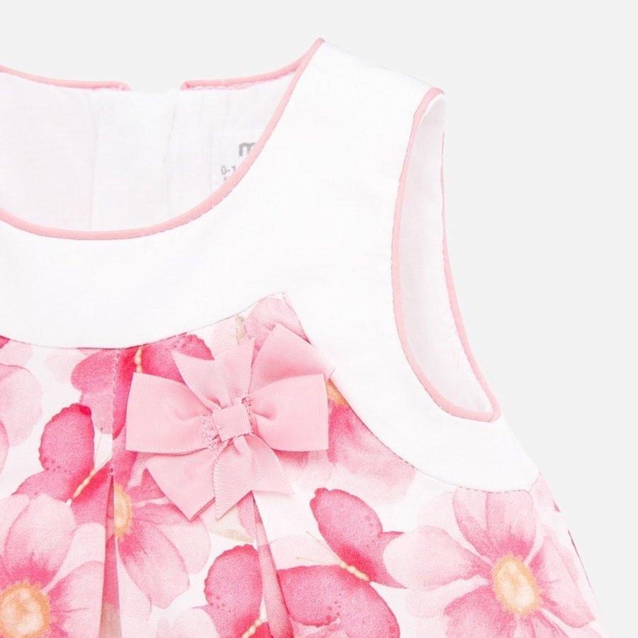 jurk met broekje bloemen - roze-4
