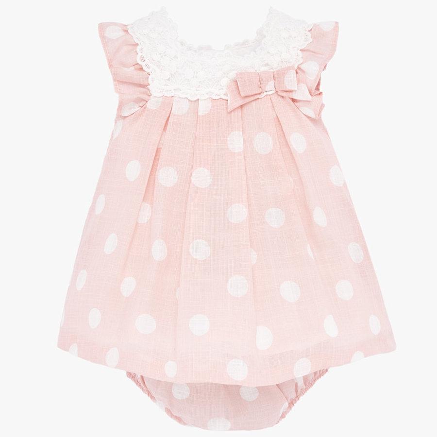 jurk met broekje broderie - roze-1