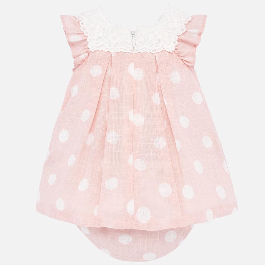 jurk met broekje broderie - roze-2