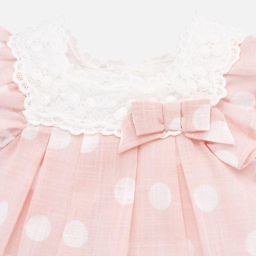 jurk met broekje broderie - roze-3