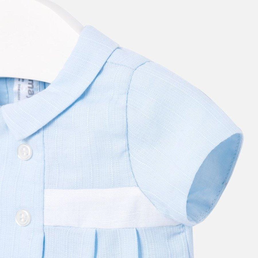 babypakje kort met kraagje - blauw-3