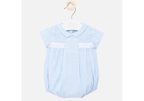 Mayoral babypakje kort met kraagje - blauw